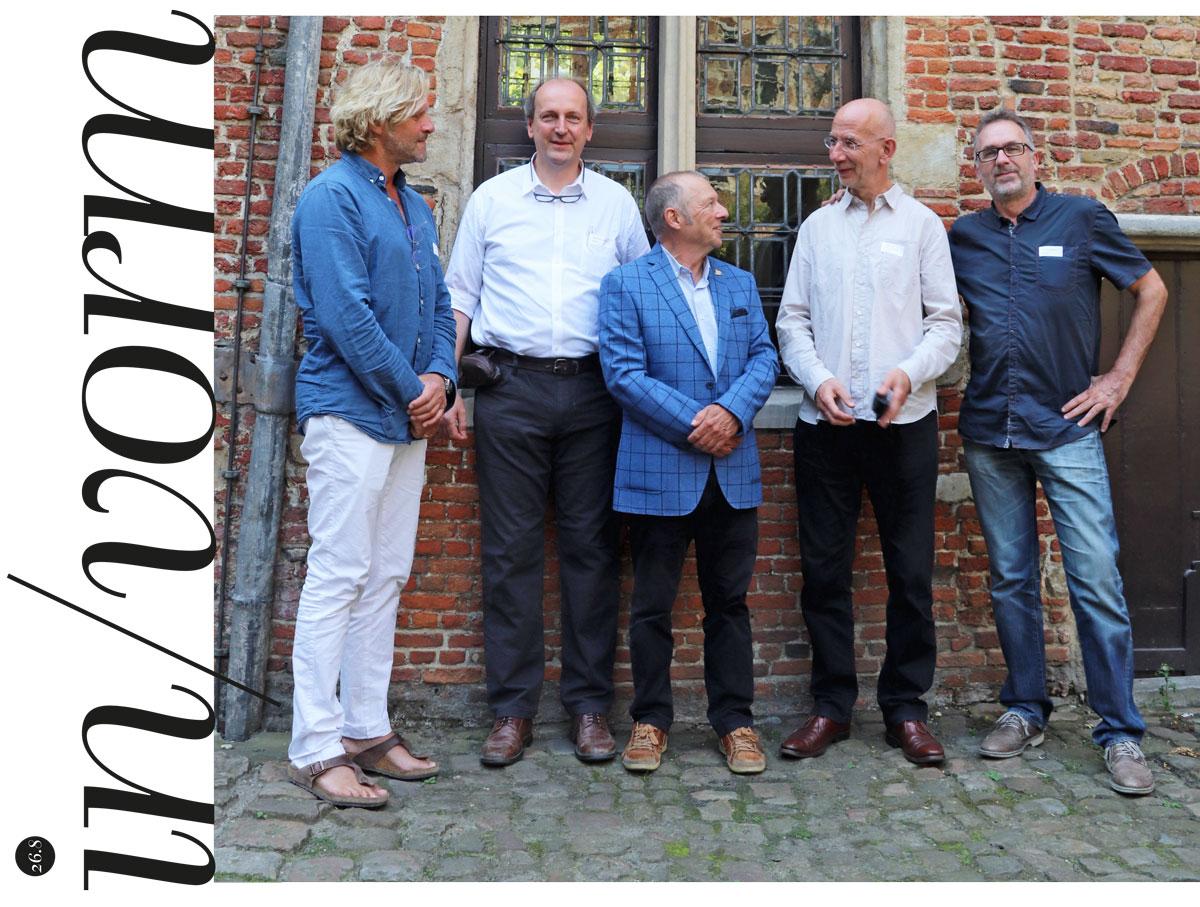 René Knip, Patrick Goossens, Tim Hinterding, Thomas Gravemaker en Martin Majoor