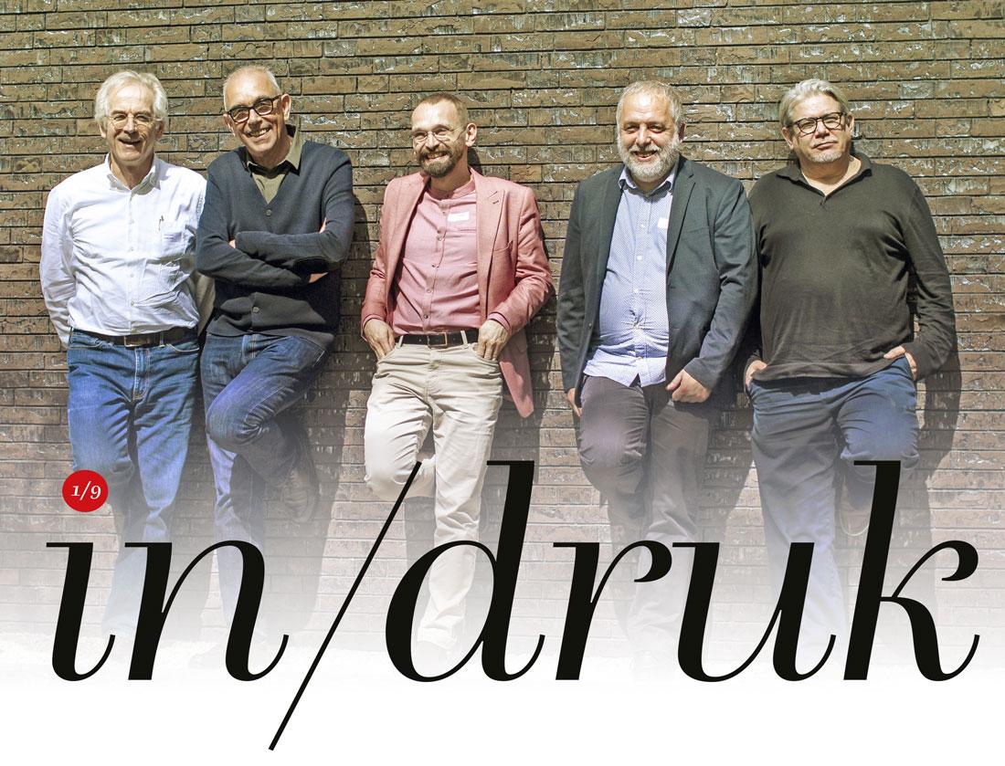 Arie Lenoir, Joost Swarte, Vladimir Ivaneanu, Walter Pauli en Gert Dooreman